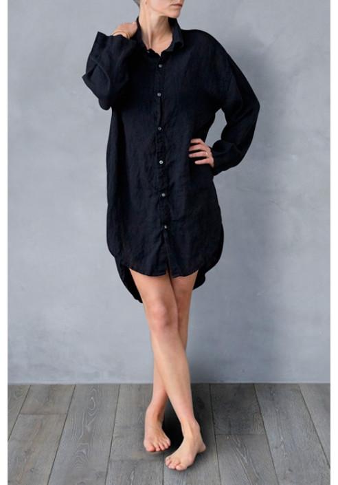 Homewear skjorte i lækker og eksklusiv hør kvalitet - fra VIIL design