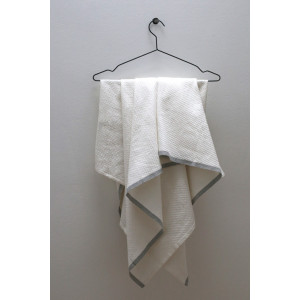 Badehåndklæde NOLU - hvid