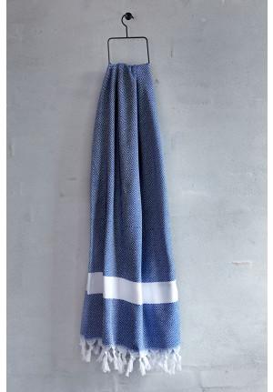 Tyrkisk håndklæde-DIA Blå/hvid