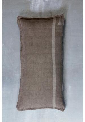 Hør pudebetræk i meget lækker kvalitet og flot brun grå farve fra VIIL, dansk design, tekstiler & slowliving