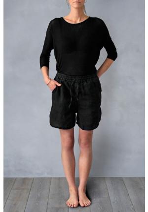 Shorts med elastik i taljen, sofistikeret og afslappet, dansk design, tekstiler & slow living fra VIIL