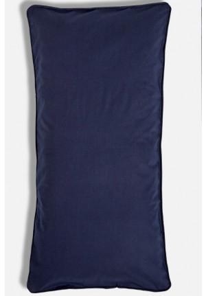 Mørkeblåt pudebetræk 40x80cm af 100% økologisk bomuld fra VIIL