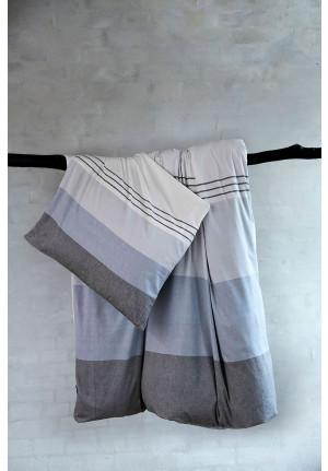 Sengetøj med striber blaa og graa LUR fra VIIL