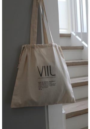 Tote bag VIIL str. M - natur/brun