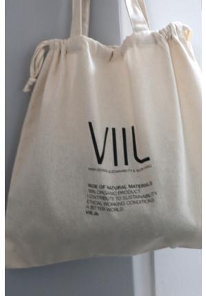 Tote bag VIIL str. M - natur/sort