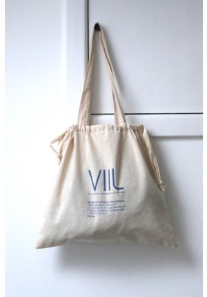 Tote bag VIIL str. M - natur/blå