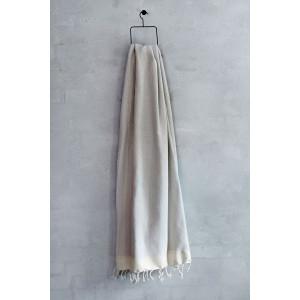 Badehåndklæde i tyrkisk hamam stil grå og natur hvid fra VIIL