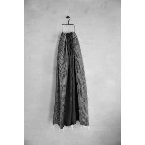 Flot hammam håndklæde med sort og hvidt moenster
