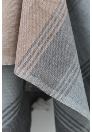 Viskestykke AIM - brun/grå/blå//sort