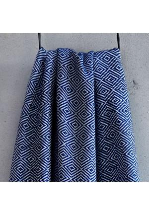 DIA tyrkisk håndklæde -  Blå/hvid