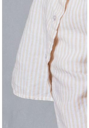 Stribede hør bukser til de rolige dage