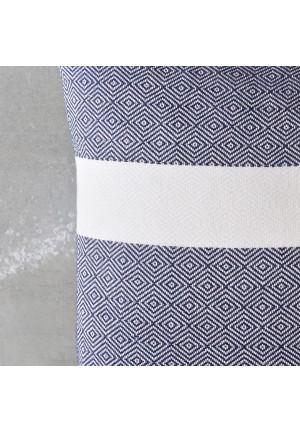 45x45 pyntepude i blaa og hvid  fra VIIL