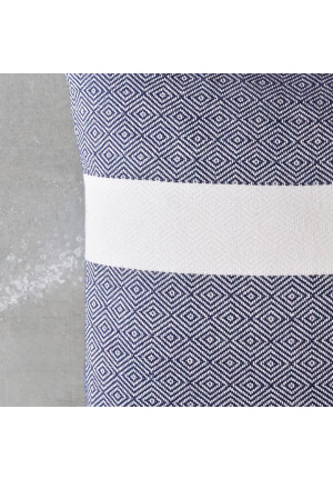 Aflang pyntepude i blaa og hvid 60x40 fra VIIL