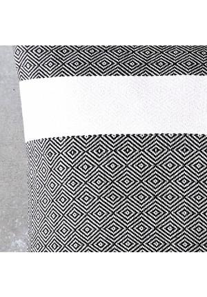 Pyntepuder 60x60 sort og hvid fra VIIL
