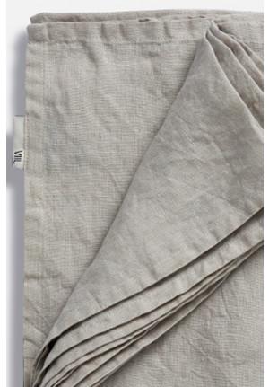 Blødt hør sengetæppe i lys grå farve