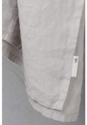 Sengetæppe lys grå 260x260 - vasket hør