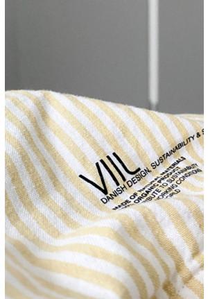 Pudebetræk 60x63cm i hvide og gule striber