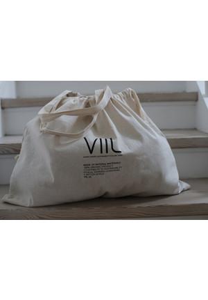 Tote bag VIIL str. L - natur/sort