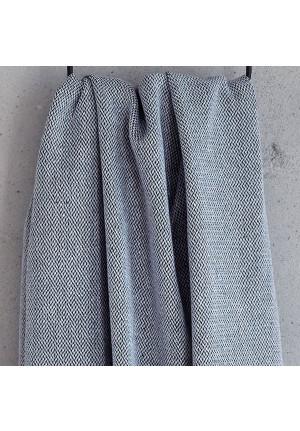 Viskestykke i god kvalitet og flot design i moerk blaa og hvid