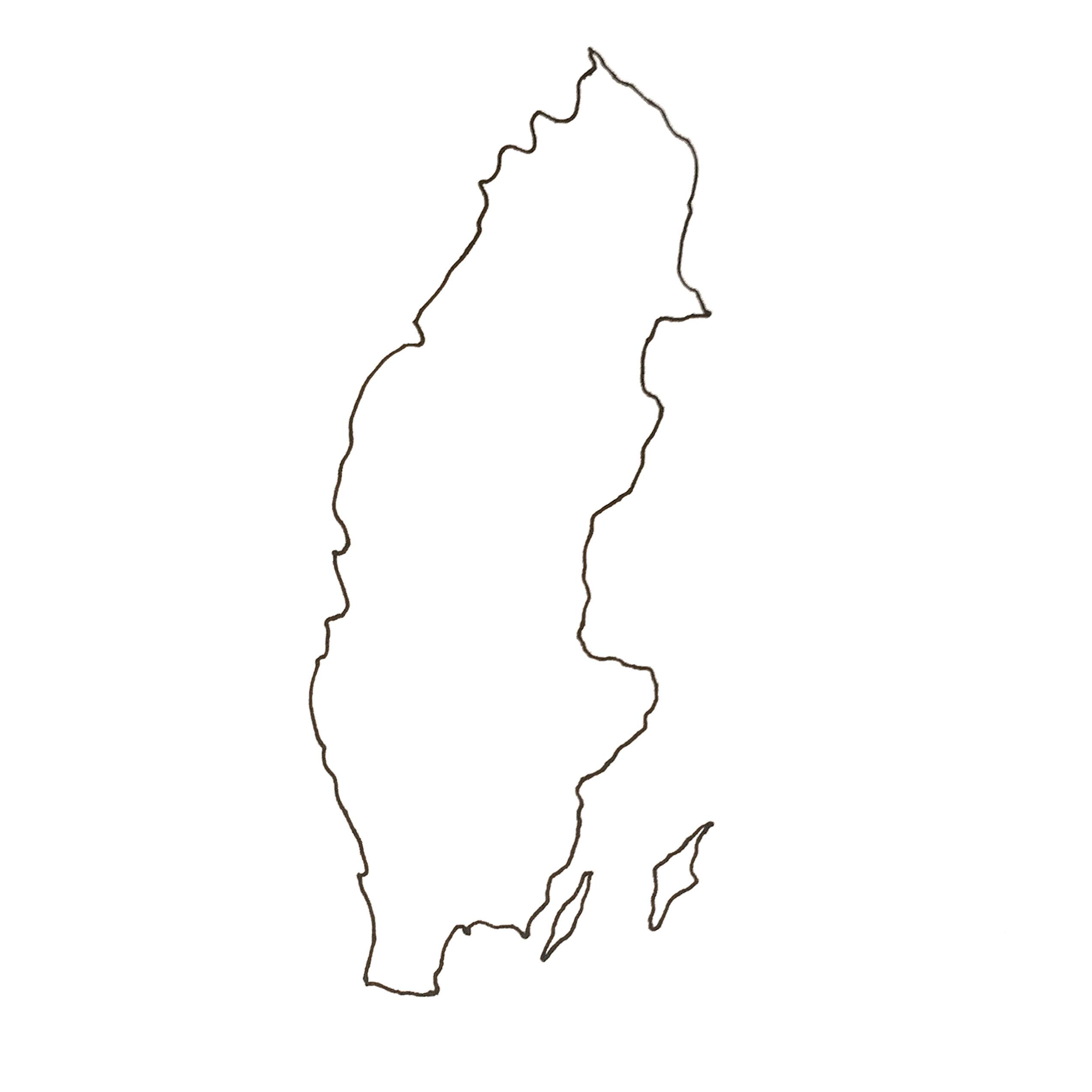Sverigeskort for VIIL